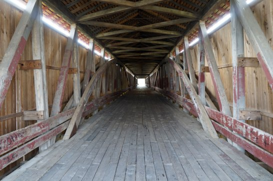 Looking through to the end of the Bridge from east to west
