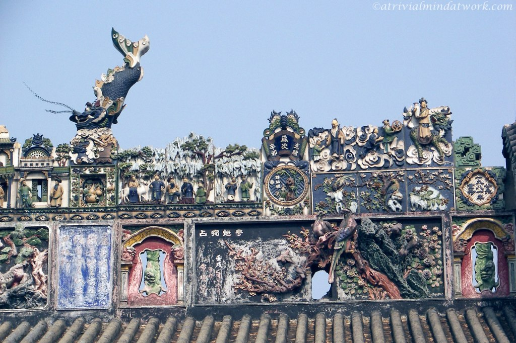 Roof top art at the Chen Clan Academy