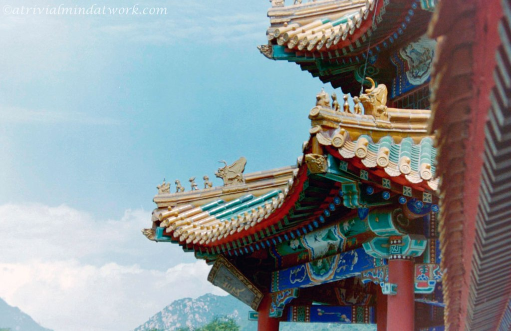 Roof art at the Great Wall of China