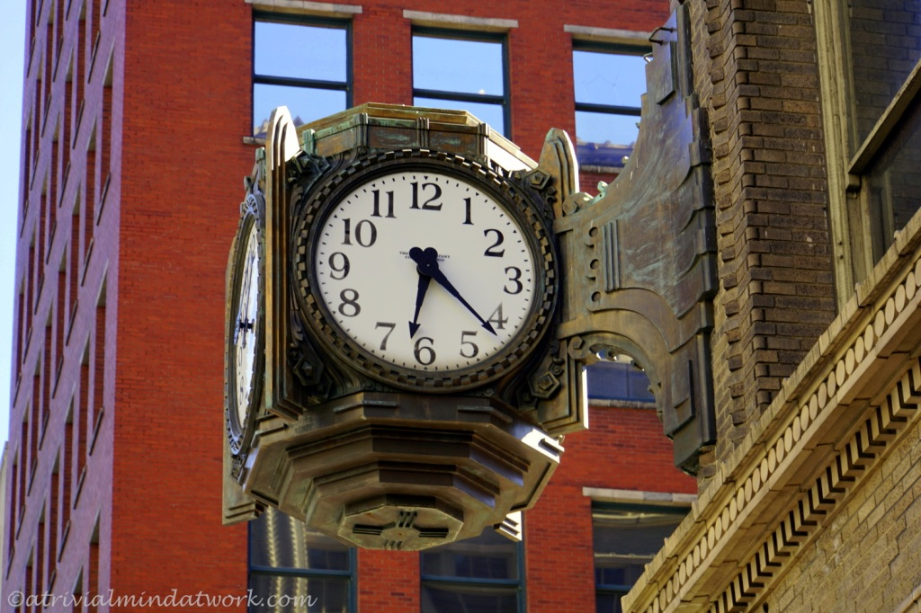Clock on the L.S. Ayres Building