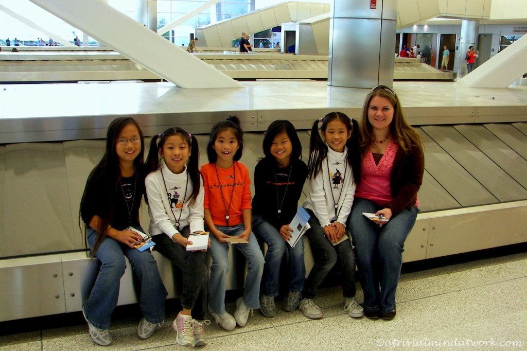 The kids at the brand new Indianapolis Airport Open House, October 2008