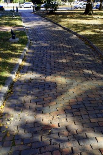 President Harrison home walkway.