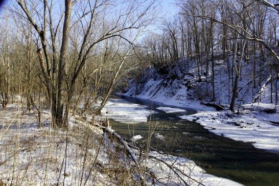 Big Walnut Creek upstream.