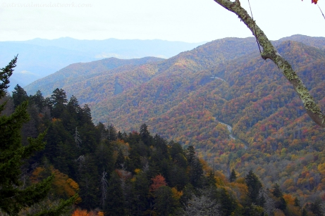 Early evening Smoky Mountains in the Fall.