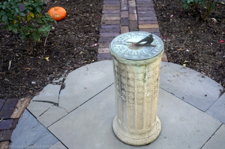 Sundial at the President Benjamin Harrison home.