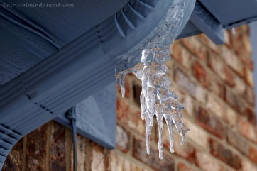Spooky Hand-Shaped Icicle.