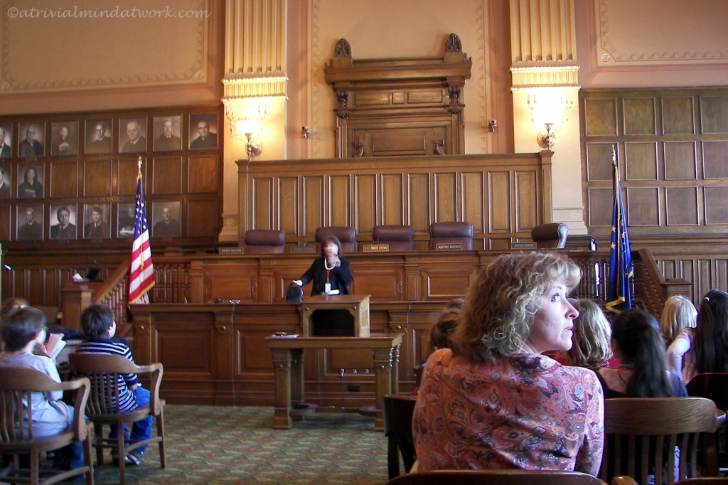 Courtroom of the Indiana State Supreme Court.