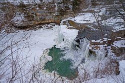 A waterfall in mid-Winter.
