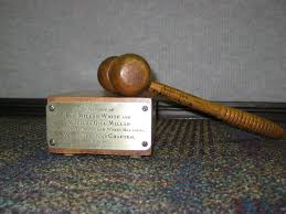 The Harry Truman gavel made with wood from the Van Buren Elm.