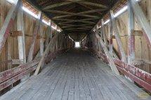 Through the inside of the Medora Covered Bridge.